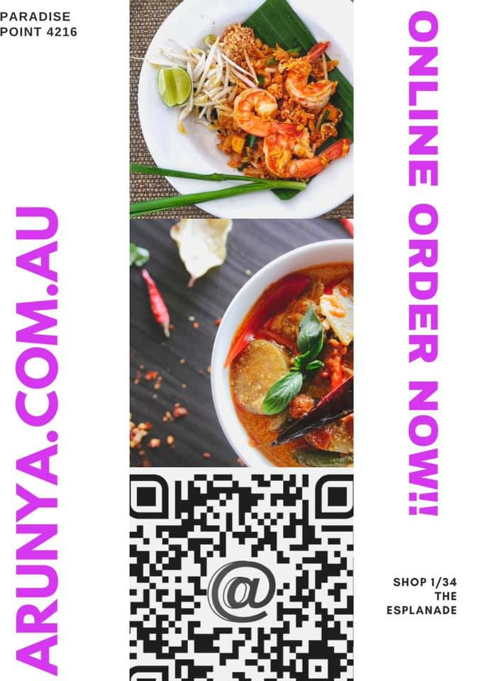 8th October.   arunya.com.au  Lunch Specials available   Tue yo Friday 11:30 to …